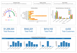 Dashboard Examples Gallery Download Dashboard Visualization Software - Customer dashboard template