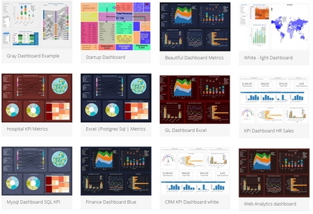white, blue, black, dark, red color dashboard themes